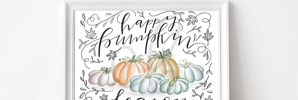 """Happy Pumpkin Season"" Art Print"
