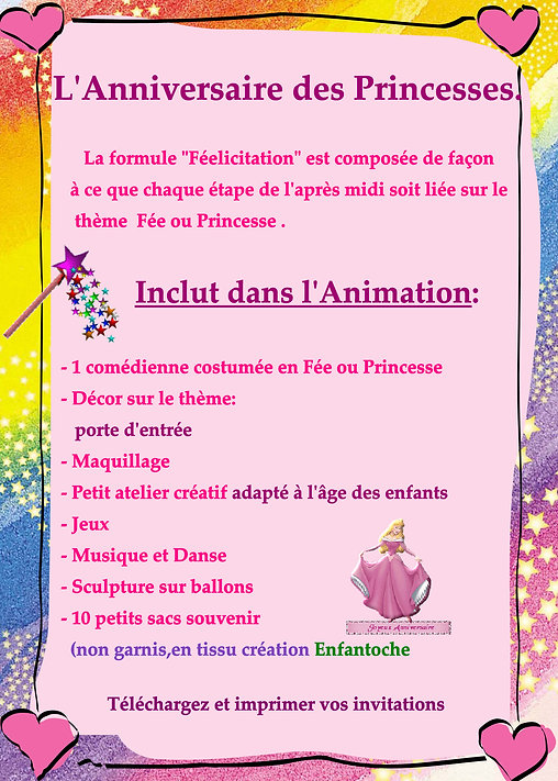 animation anniversaire princesses