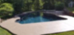 concrete coating finished pool