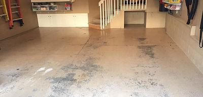 unfinished garage concrete floor