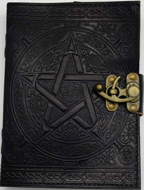 "Pentacle blank book 5""x7"" black"
