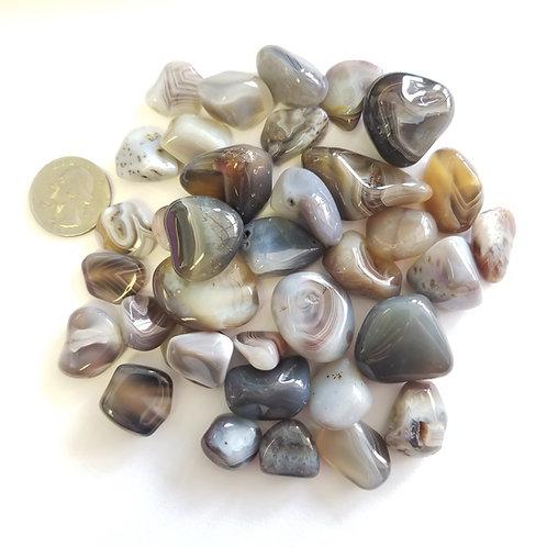 Gray Botswana Agate Tumbled Stones