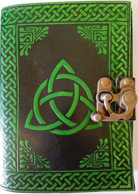 "Triquetra blank book 5""x7"" Green"