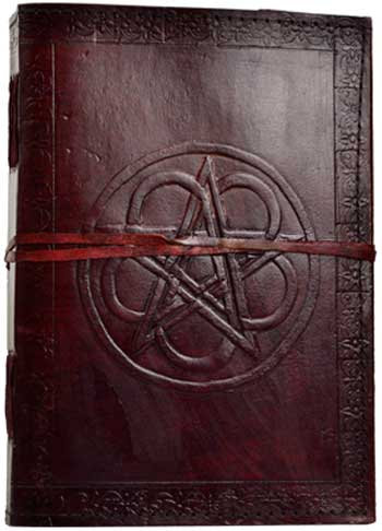 """Pentacle blank book with cord 7""""x10"""""""