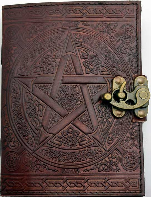 "Pentacle blank book 5""x7"" brown"