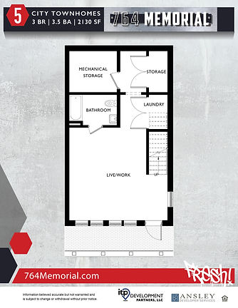 764 MEMORIAL -townhome floorplans (exter