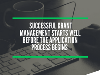 Most Important Steps Leading Up to Grant Management