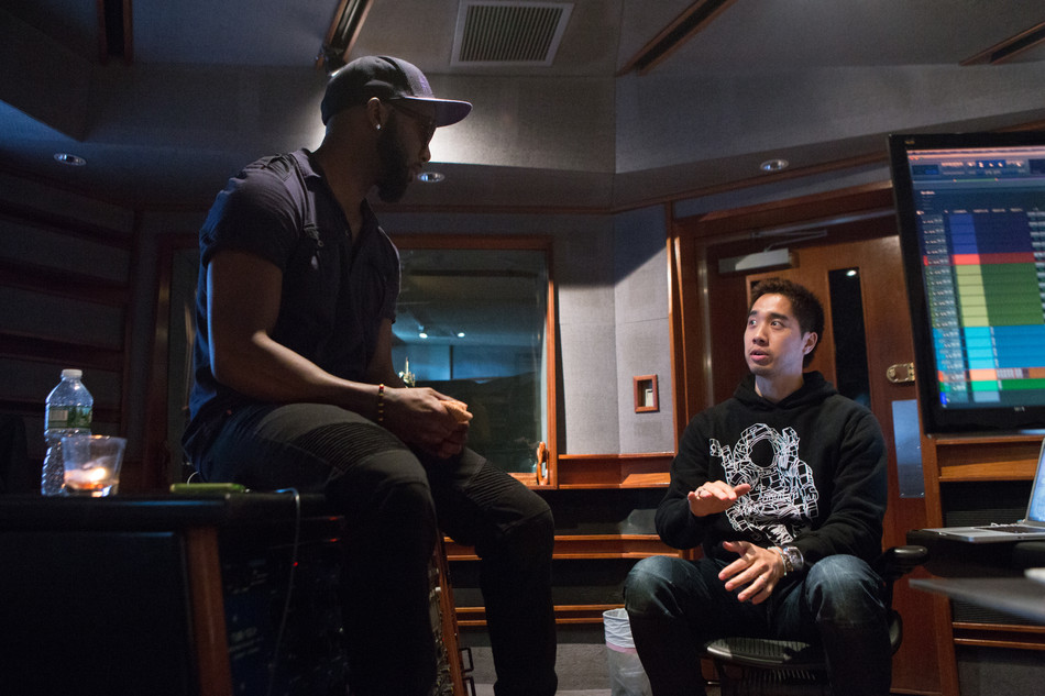 With MikeLyrik in the Studio