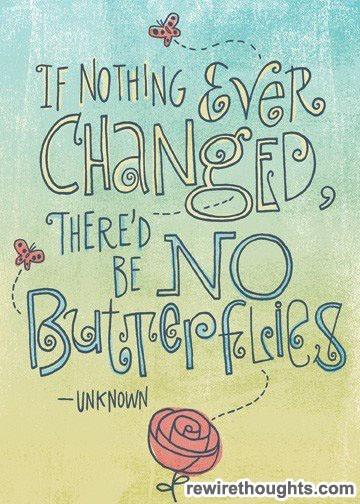 """""""Se nada mudasse, não haveria borboletas"""""""
