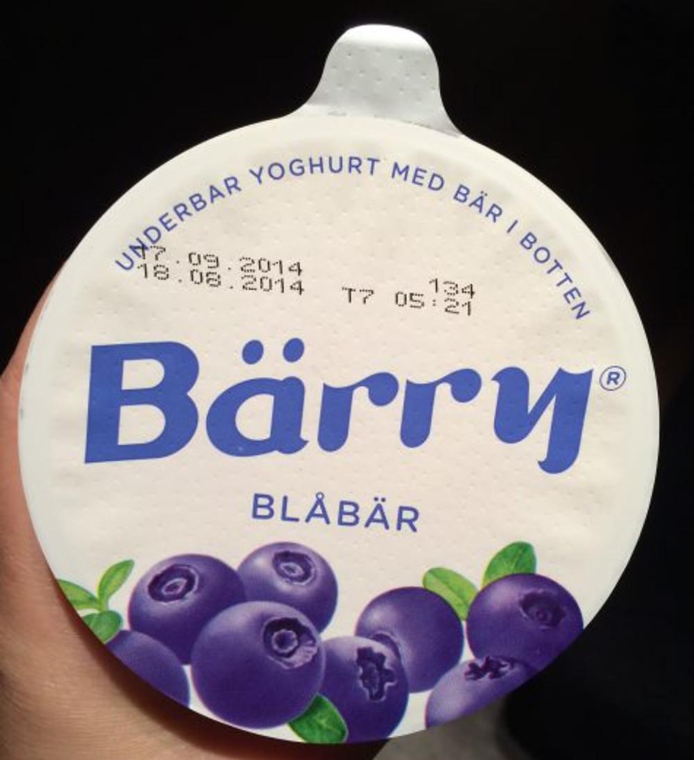 Isso aí é um iogurte de blueberry