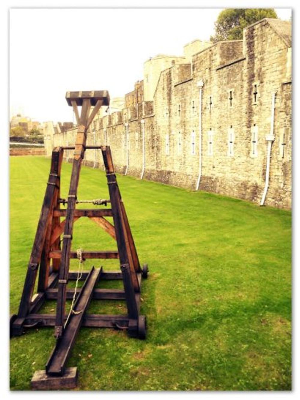 Catapulta na Torre de Londres (arquivo pessoal)