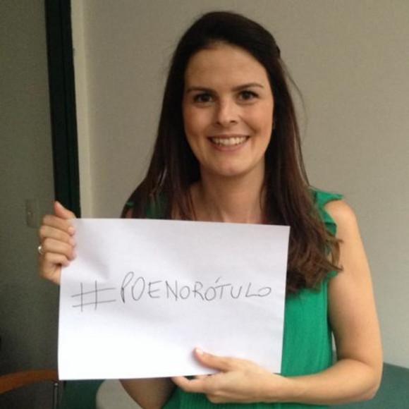 Cecilia Cury é a idealizadora da campanha #poenorotulo