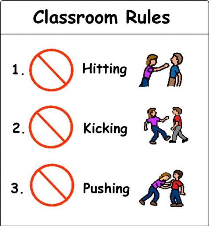 Mais um exemplo mostrando o que não é aceitável na sala. Fonte: http://bit.ly/1e7wbIR