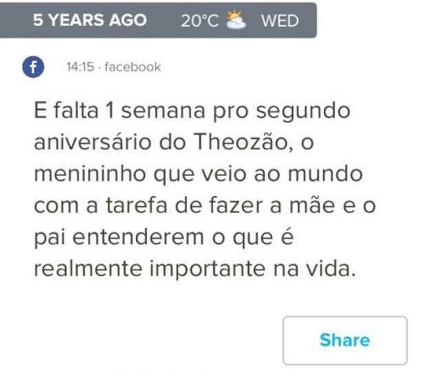 Post feito no auge do luto, com um diagnóstico recém recebido, há uma semana do aniversário de 2 anos do Theo.