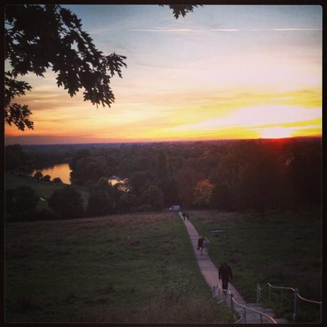 O lindo por do sol em Richmond