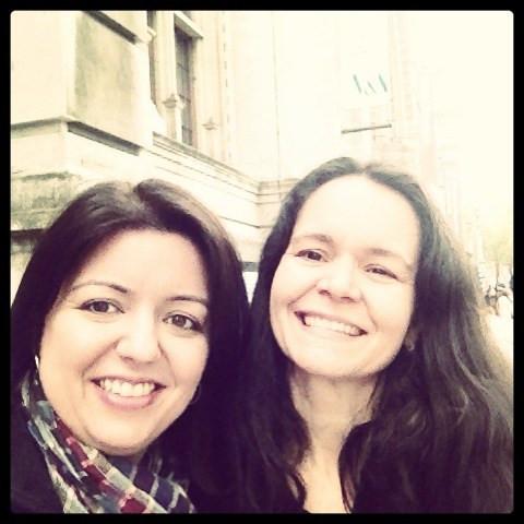 Eu e a minha amiga Cris em Londres