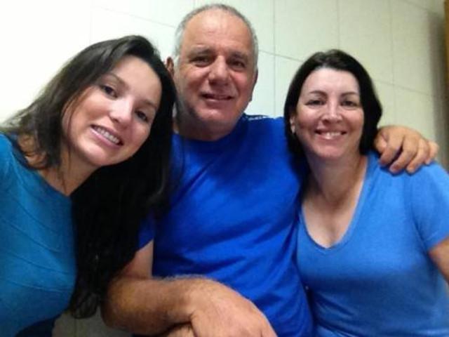 Karina (cunhada), Décio (sogro) e Rosa (sogra)