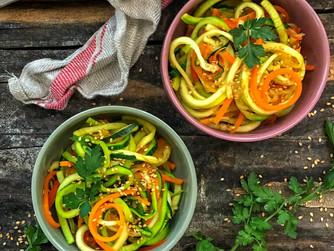 Wok de fideos de verduras