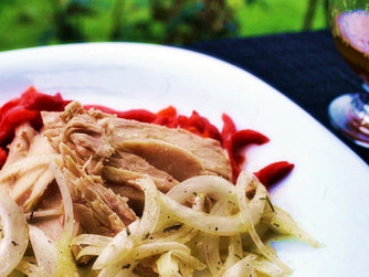 Ensalada de pimientos asados y ventresca de atún