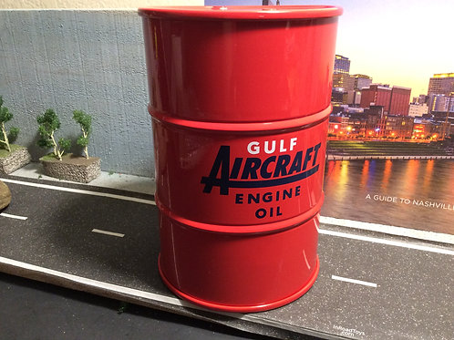 "FIRST GEAR 55 GALLON COIN BANK ""GULF AIRCRAFT OIL"""