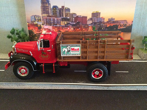 First Gear Mack Truck Red/Black B-61 Stake Truck with 2 boxes