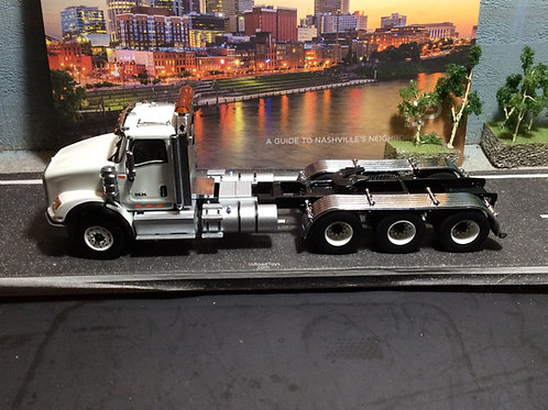 1:50 International HX620 Three Axle Tractor - Cab Only -White  71007