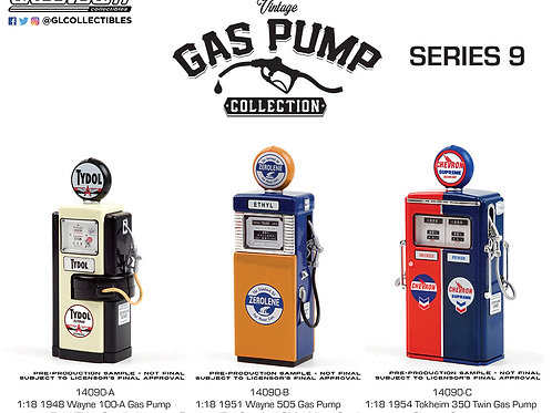 1:18 Vintage Gas Pumps by Greenlight Pre-Order