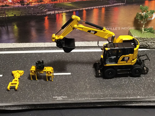 1:87 HO SERIES Caterpillar M323F Railroad Wheeled Excavator by CAST MASTERS