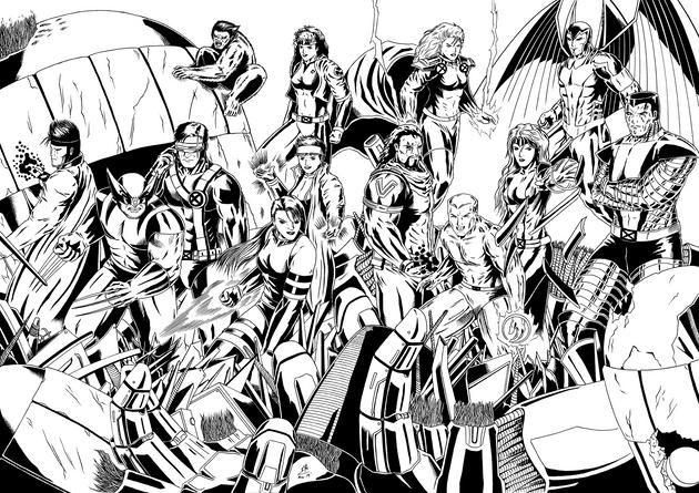 X-Men Blue & Gold Collage