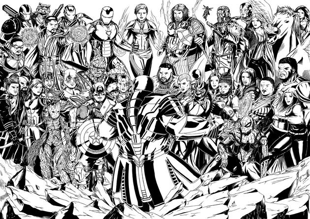 Avengers Endgame Collage