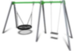 SW-015 - 2 Bay Single Swing