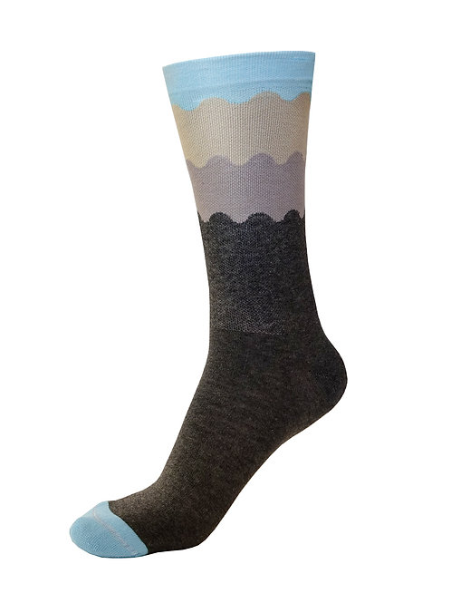Trace Apparel Bike Socks - OCEANS ARE CALLING (BLUE)