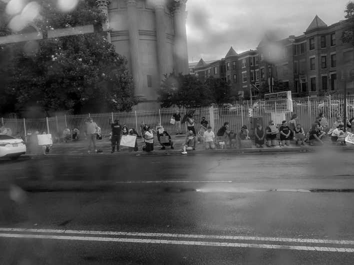 Protestors on 16th