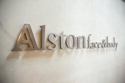 Logo on wall angled - 2 (web)