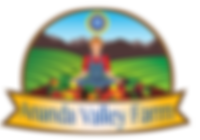 Ananda Valley Farm logo: an organic farm whose farmers meditate, and bring conscious caring into the food they grow and harvest