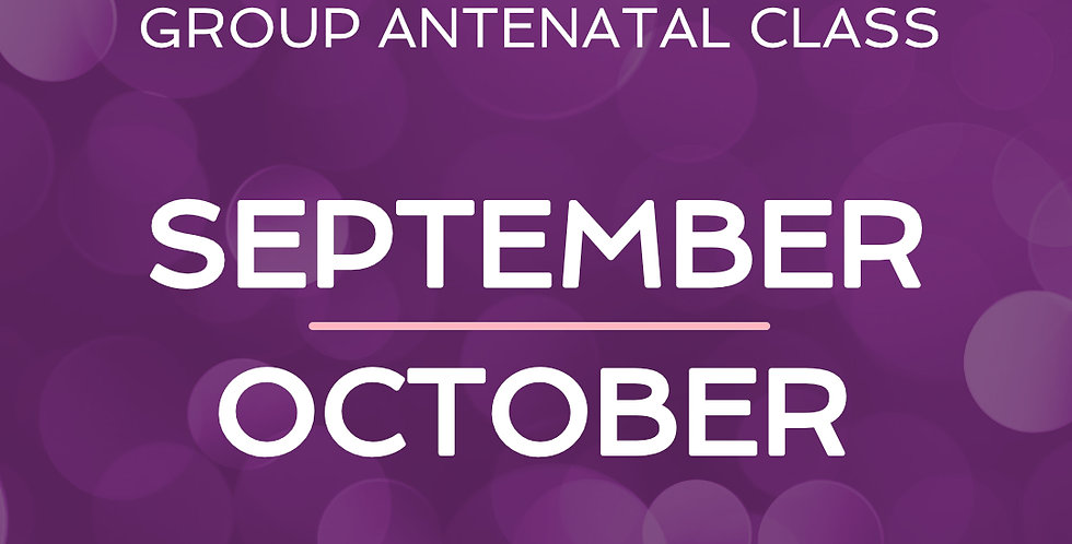 Group Antenatal Course - Sept/Oct
