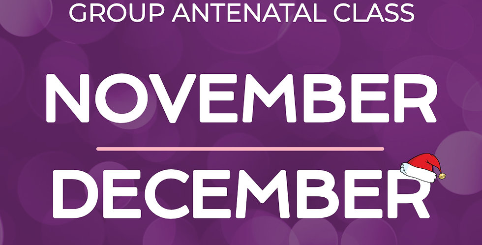 Group Antenatal Course - November/December