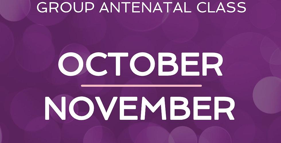 Group Antenatal Course - Oct/Nov