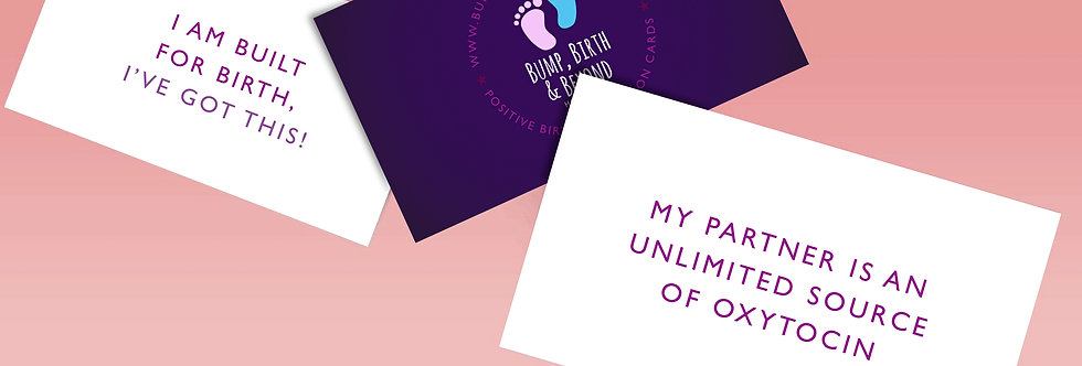 Positive Birth Affirmation Cards - Digital Download