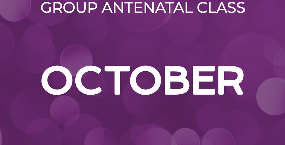 Group Antenatal Course - October