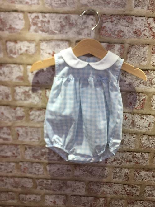 Baby Blue/White Romper