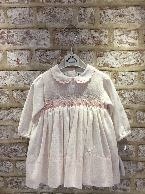 Pink Spot Hand Smocked Dress