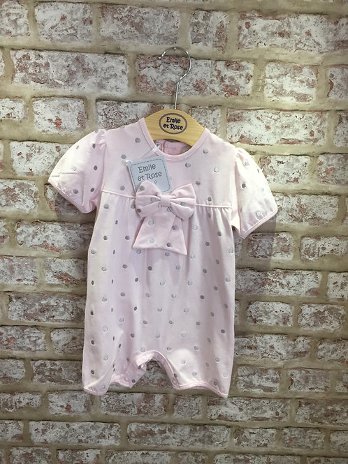 Emile et Rose Pink Spotted All In One