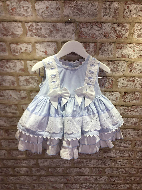 Weeme Blue/White Puffball Dress