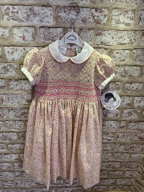 Sarah Louise Dress Ditsy Floral Pink