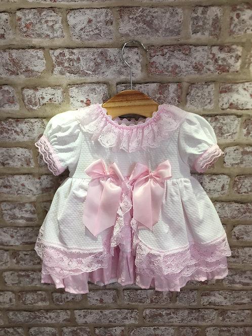 Weeme Pink/White Puffball Dress