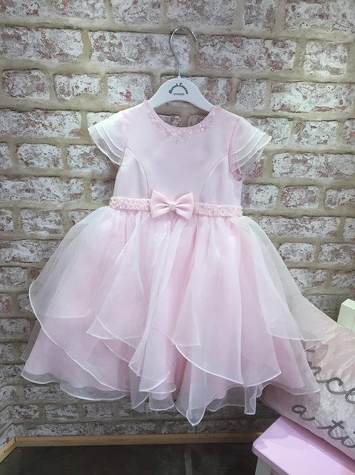 Sarah Louise Pink Ballerina Length Gown