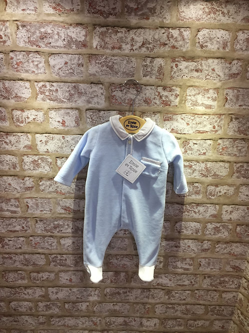 Emile et Rose Baby Blue All In One