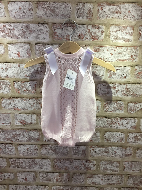 Baby Pink Knitted Romper