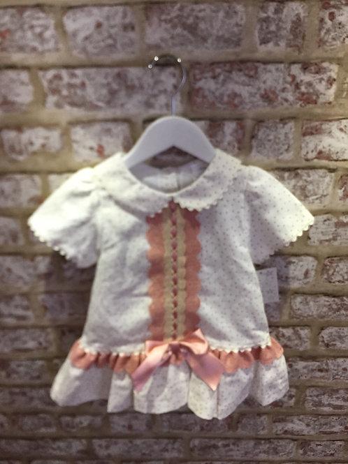 Ivory/Dusky Pink Dress